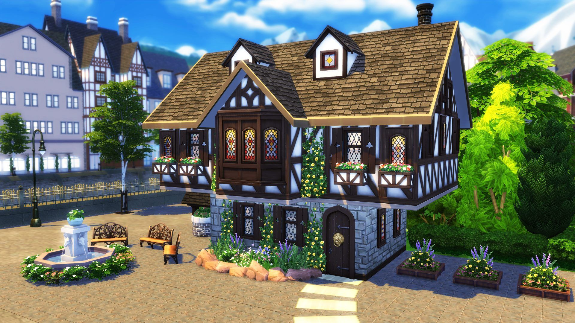 The sims 4 build tutorial how to build a tudor house sims community