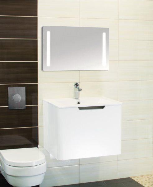 Venezia 60 alsóbútor + mosdó fehér - minimal fürdőszobabútor ...