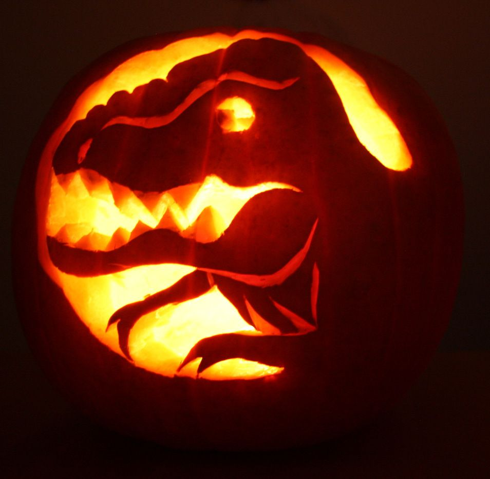 t rex pumpkin pattern - Google Search | Halloween | Pinterest ...