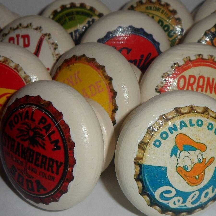 Bottle Cap Door Or Drawer Knob | Vintage bottles, Drawers and Doors
