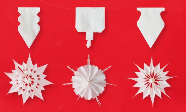 Origami: So bastelt ihr Sterne aus Butterbrottüten #deconoel