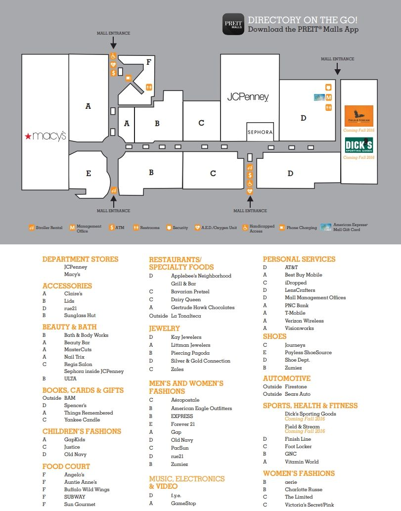Viewmont Mall Shopping Plan Mall Mall Stores Concept Architecture