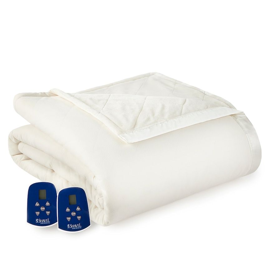 Micro Flannela Ultra Velvet Heated Blanket Natural Electric