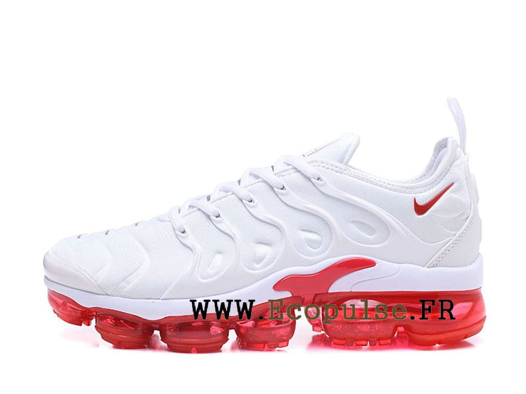 detailed look 7f196 e2ec4 Nike Air VaporMax Plus 2018 Chaussures Bleached Aqua TN Pas Cher Homme Big  rouge   blanc