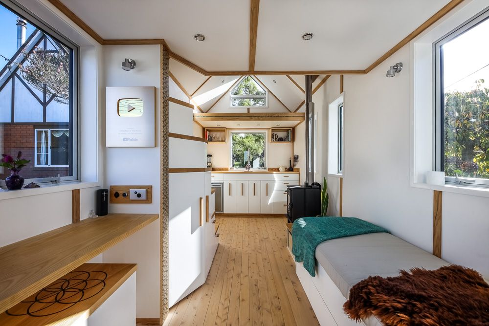 The Seed Of Life Tiny House Nz Living Big In A Tiny House In 2020 Tiny House Interior Cladding Tiny House Living