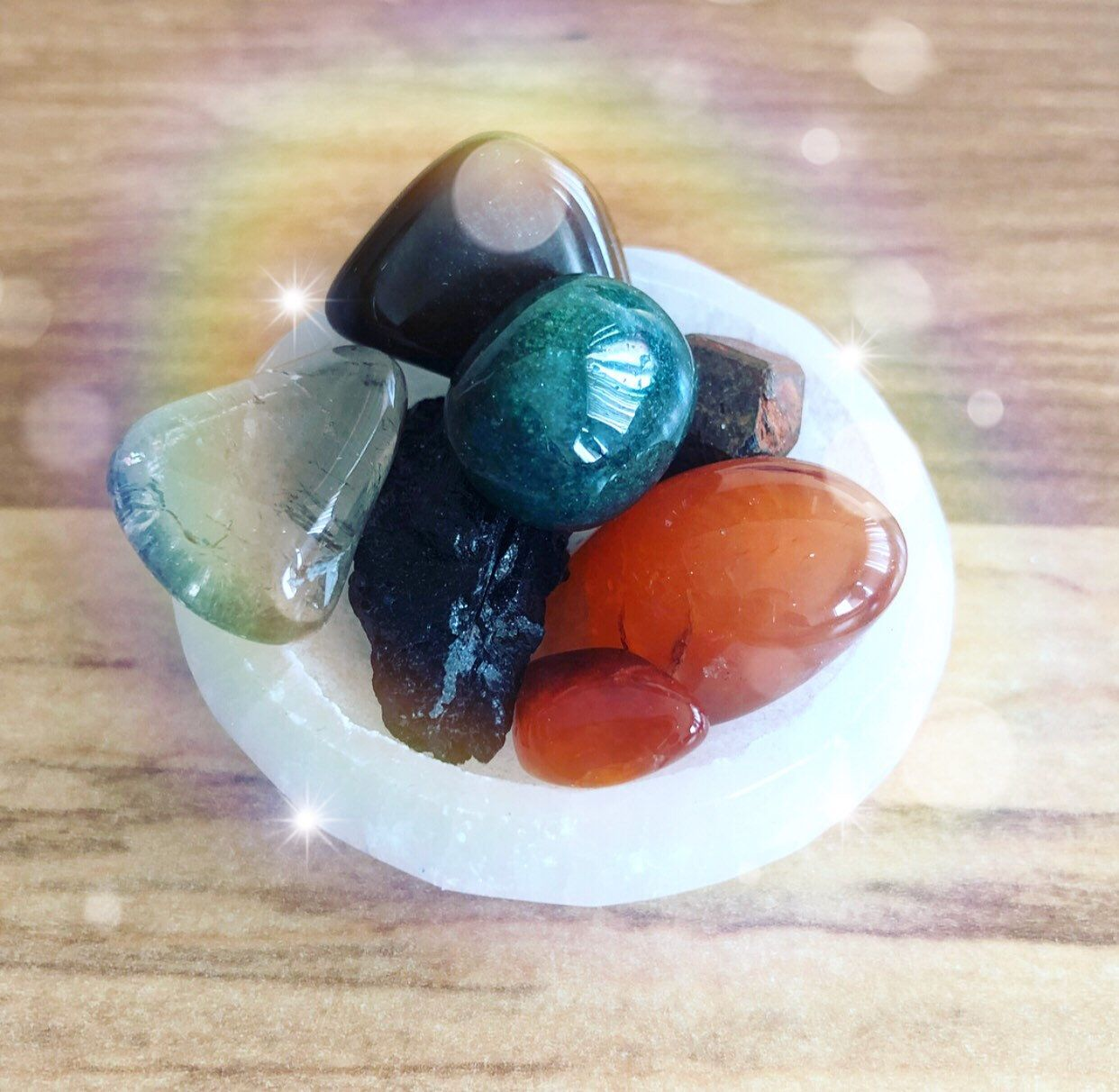how to cleanse selenite bowl