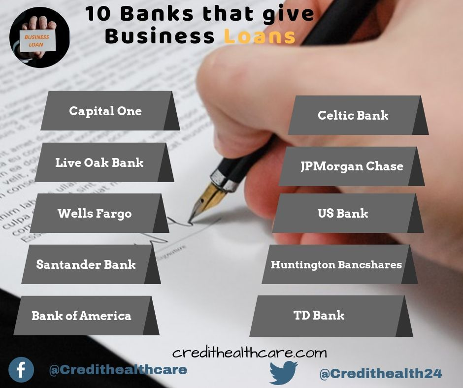 Top 10 Banks That Give Business Loans In 2018 Business Loans Small Business Loans Loan