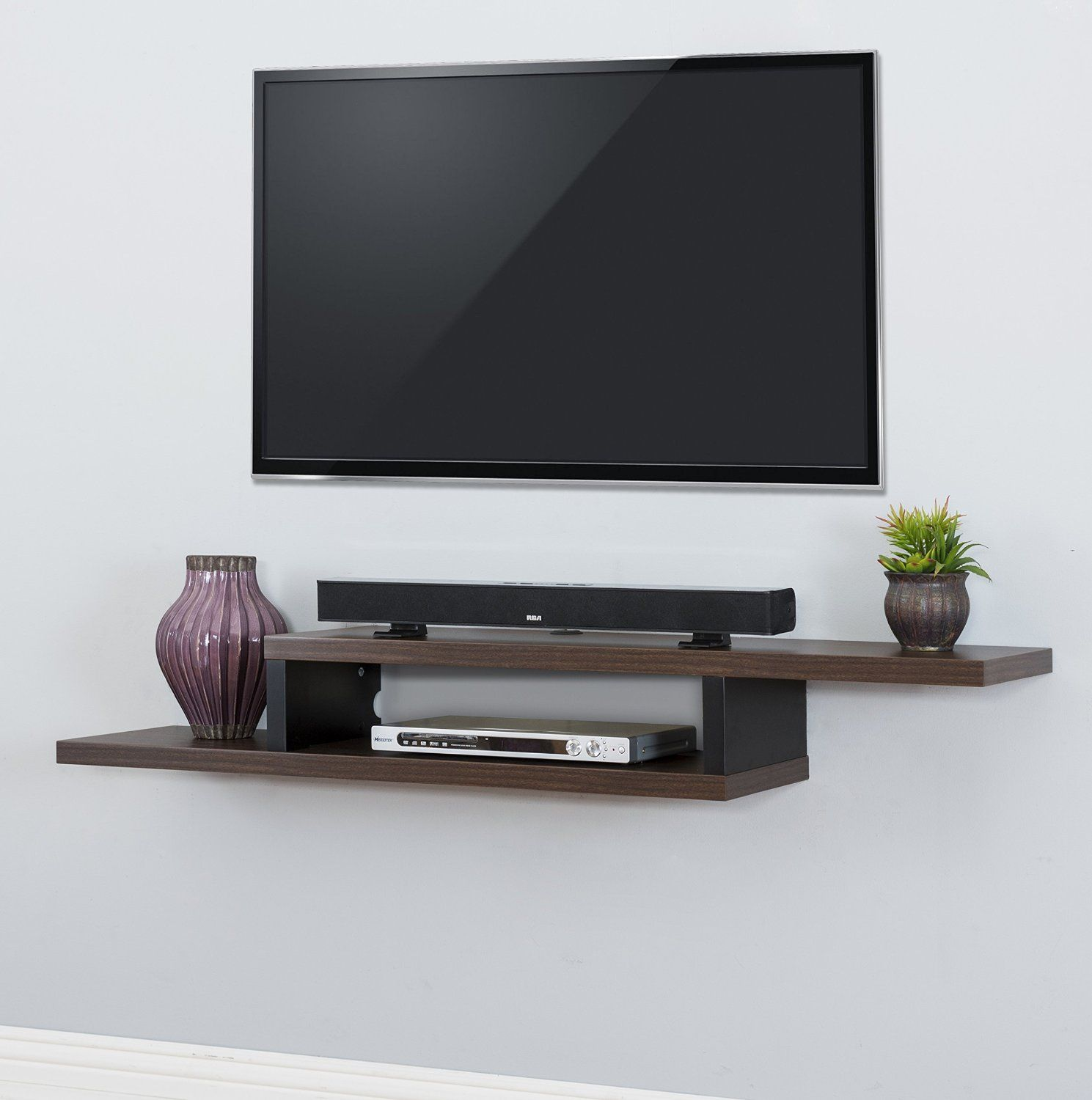18 Chic And Modern Tv Wall Mount Ideas For Living Room Wall Mount Tv Shelf Wall Mounted Tv Console Wall Mounted Shelves