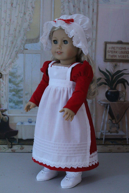 Six Piece Regency Christmas Ensemble for Caroline or any American Girl Doll. via Etsy.
