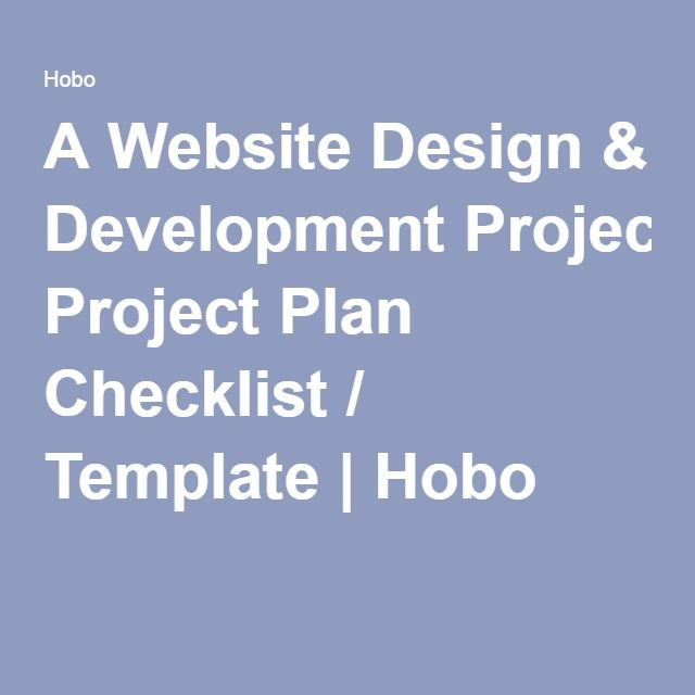 a website design development project plan checklist template