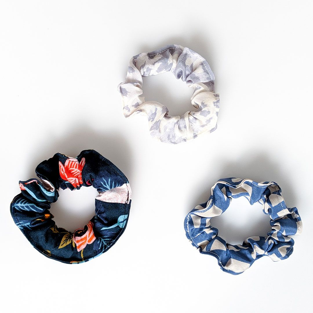 Fabric Scrap-Busting Series: Scrunchies and Hair Bows