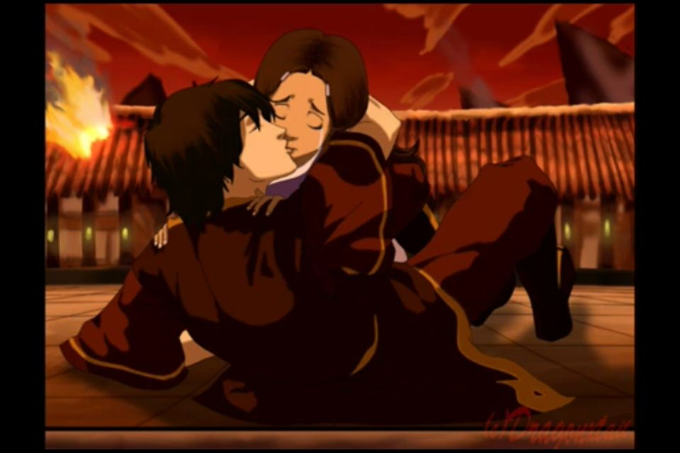 THIS IS HOW IT WAS GOING TO END. They changed it because they got too many complaints about the avatar not getting the girl. WHHHYYYYYYY WOULD YOU DENY US THIS?!?!!?
