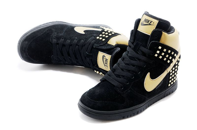 online store a4c33 3eafb Free Shipping Only 69  615873-001 Nike Dunk Sky Hi Studs Black