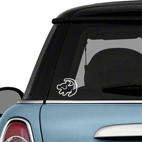 Simba Car Decal Rafiki Disney Lion King Vinyl by NaomiInWonderland