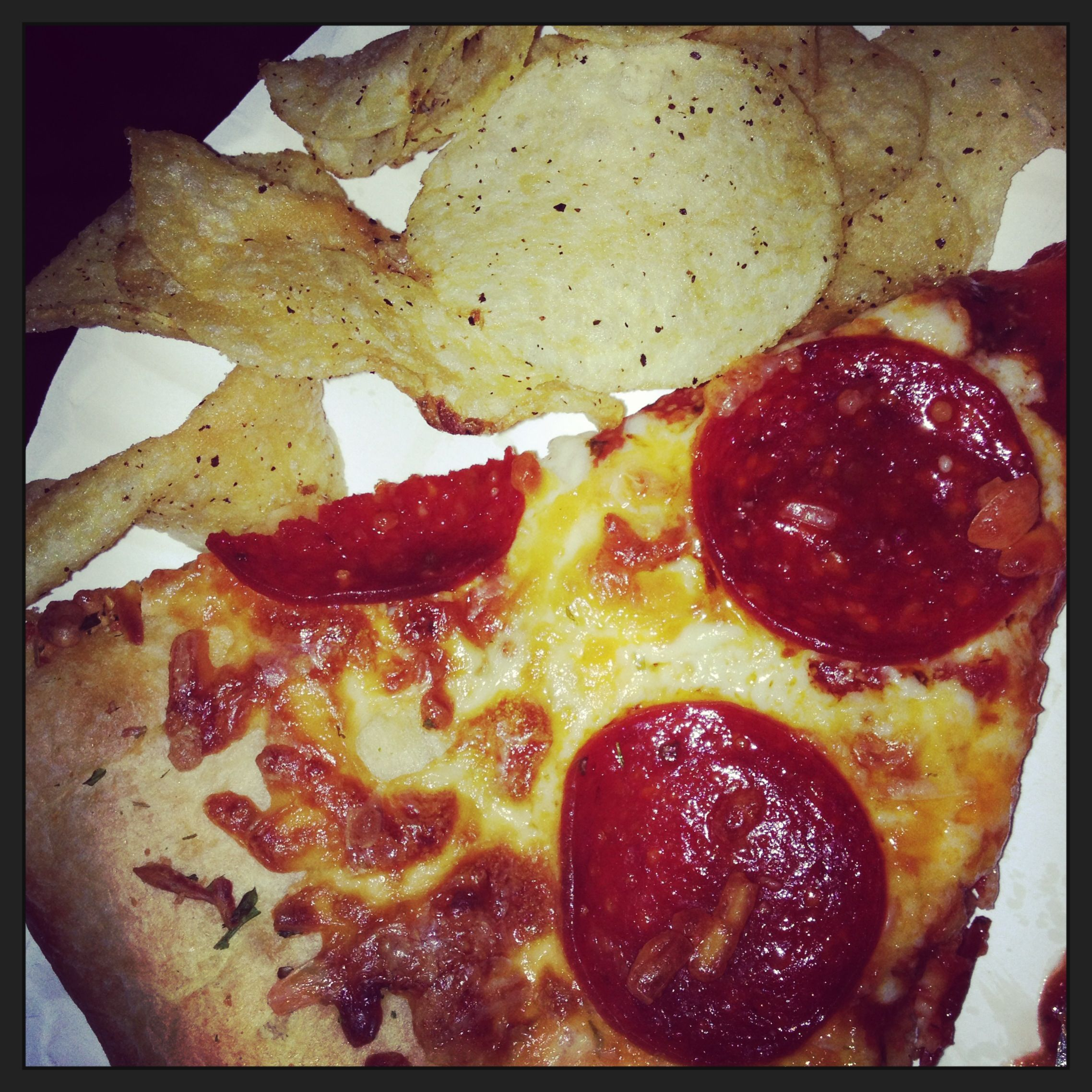 Pizza and potato chips...it's a Jersey thing!