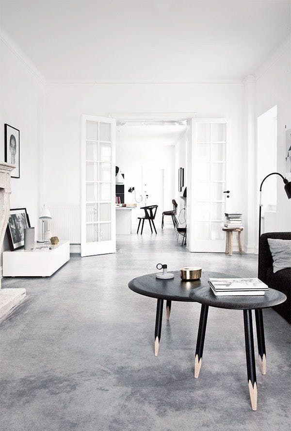 Raw Beauty 14 Gorgeous Spaces With Concrete Floors Minimalism Interior Floor Design Interior