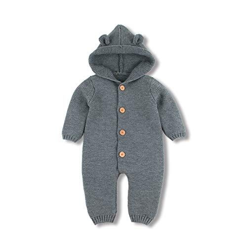 99fdb0d99690 mimixiong Baby Sweater Romper Layette Knit Long Sleeve Jumpsuits ...