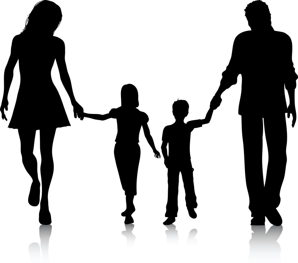 Image result for parent and child silhouette