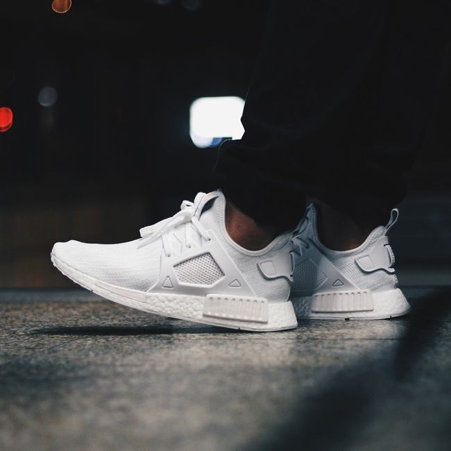 finest selection 53d67 f25eb adidas NMD XR1 PK Primeknit Triple White On Feet | adidas ...