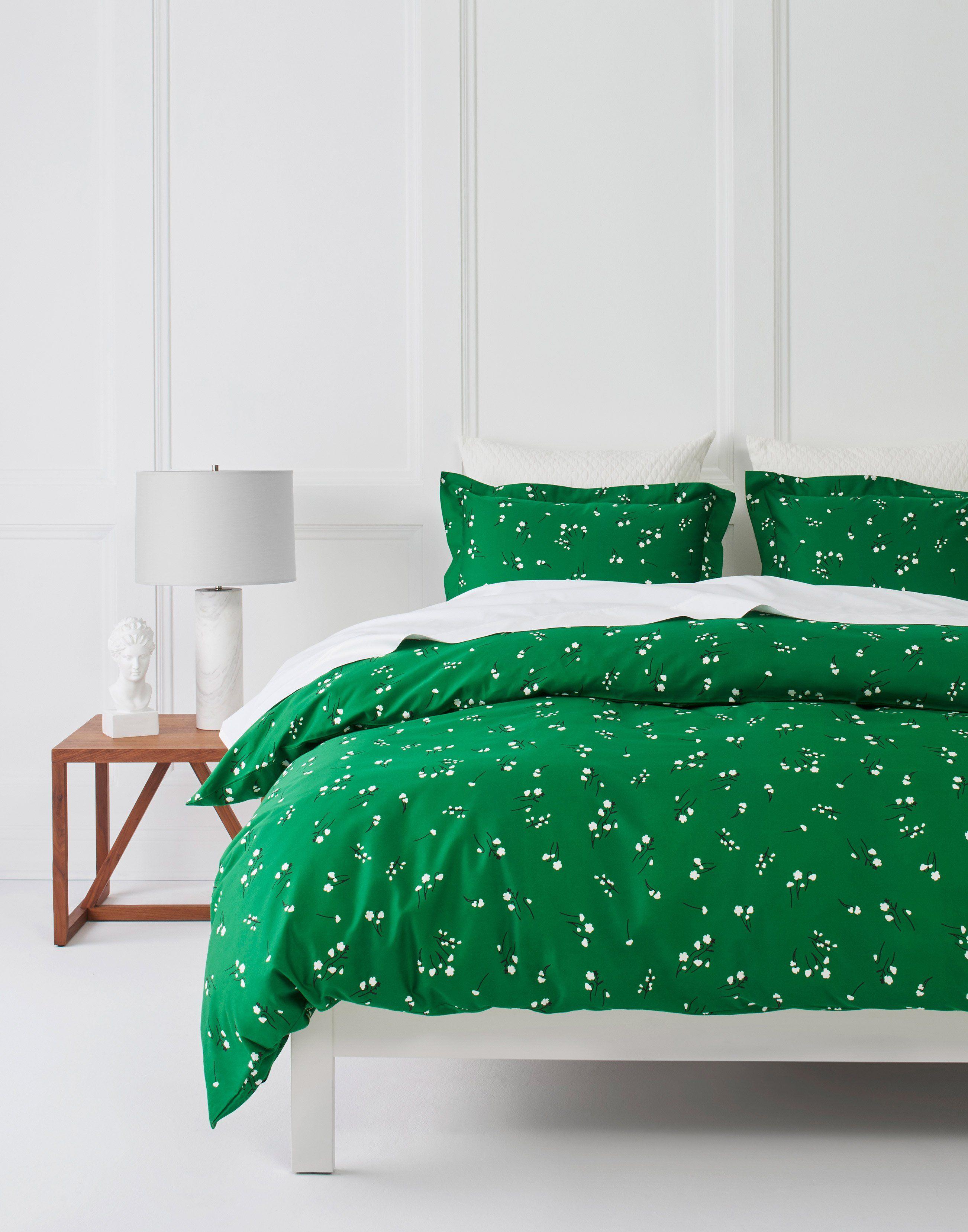 Wildflower (Emerald) Bedding, full/queen Green bed