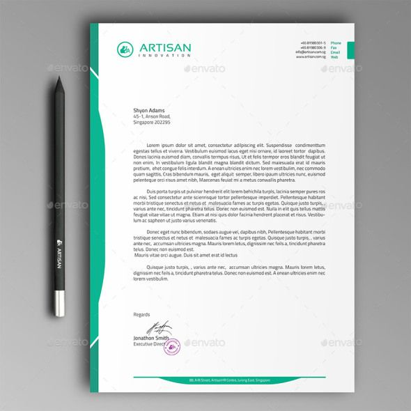 Free Amp Premium Letterhead Templates Multiple Formats Business