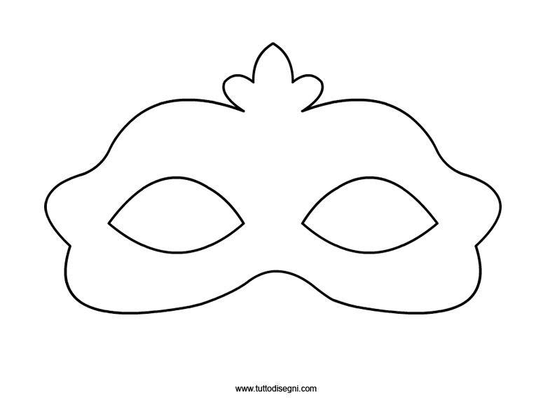 maschera di carnevale da colorare e ritagliare