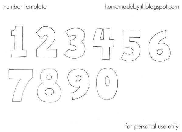 Number Template Templates Pinterest Template - number template