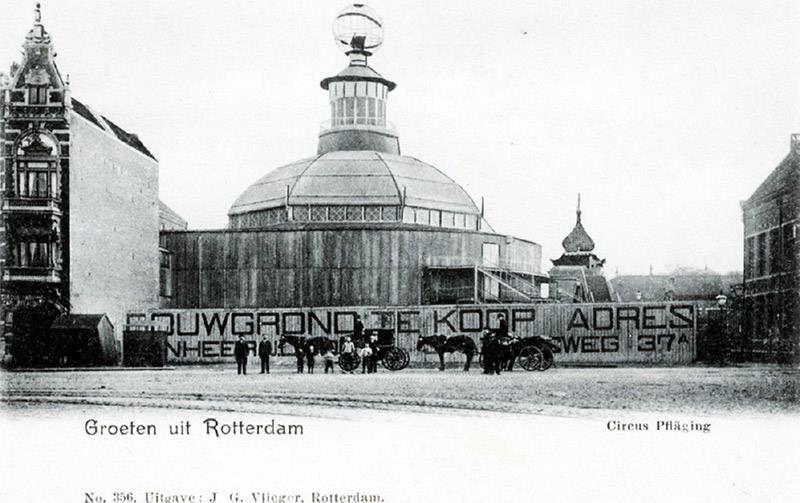 Soms kom je op facebook een juweeltje tegen, de geschiedenis van het Rotterdams Circusgebouw, verwoest door brand.