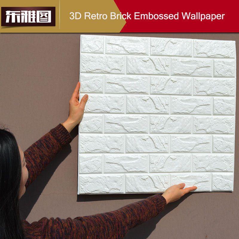 20 rollos 3d efecto piedra pared ladrillos papel pintado vinilo texturizado bricolaje - Papel pared ladrillo ...