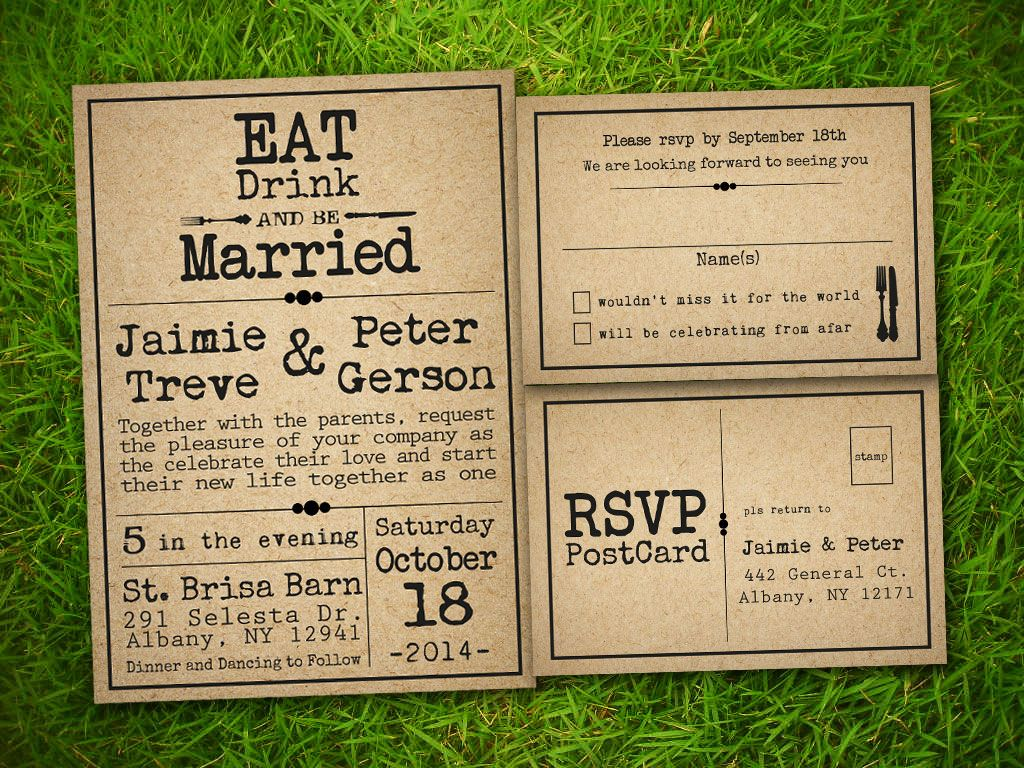 Wedding Invitation Ideas Pinterest: Country Wedding Invitations Templates Etsy Templatejpg