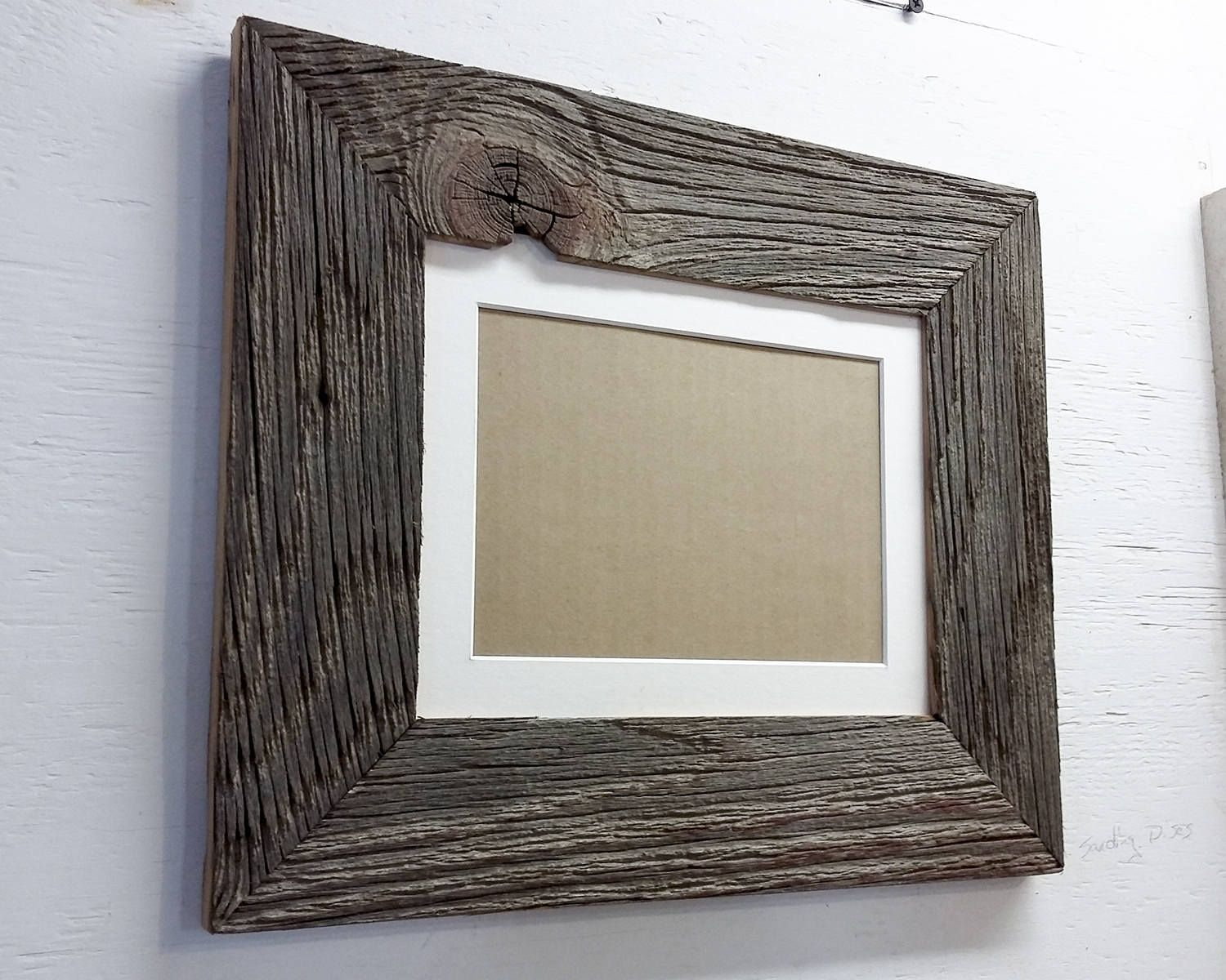 Authentic Barn Wood Frame 8 X 10 Inch With White Matting To 5 Barn Wood Frames Barn Wood Farmhouse Frames