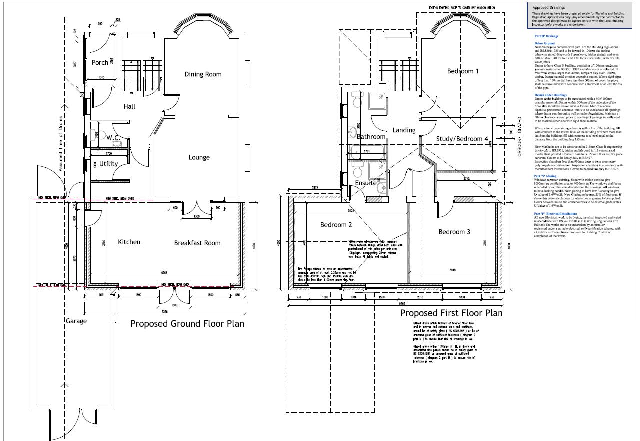 Extension plans, Kitchen extension, Bromsgrove