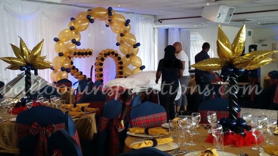 50th Birthday Party balloon decorations ballooninspirationscom