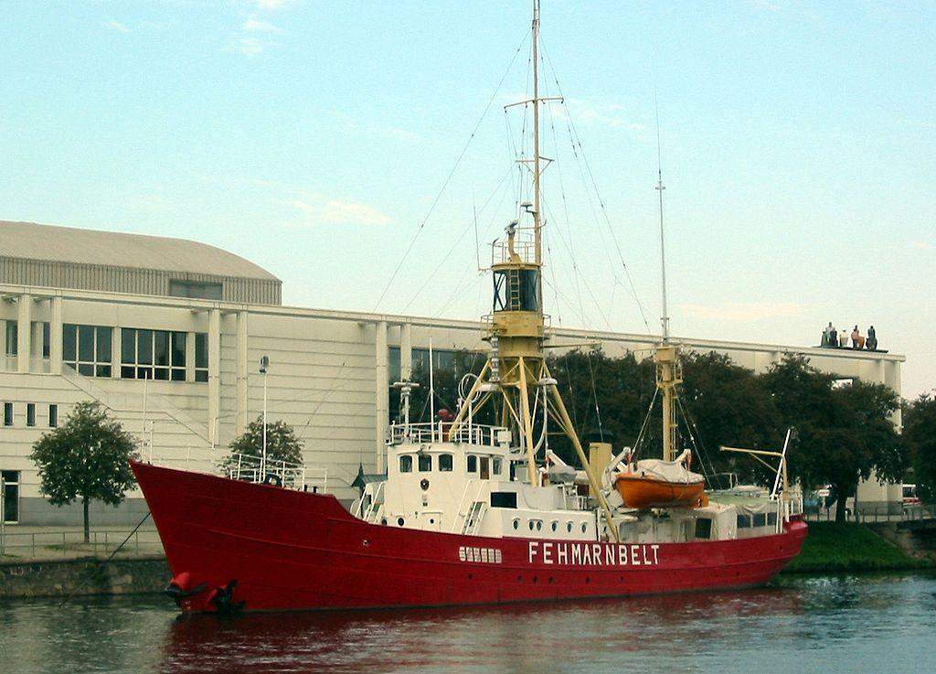 Fehmarnbelt Lightship, now a museum ship in Lübeck