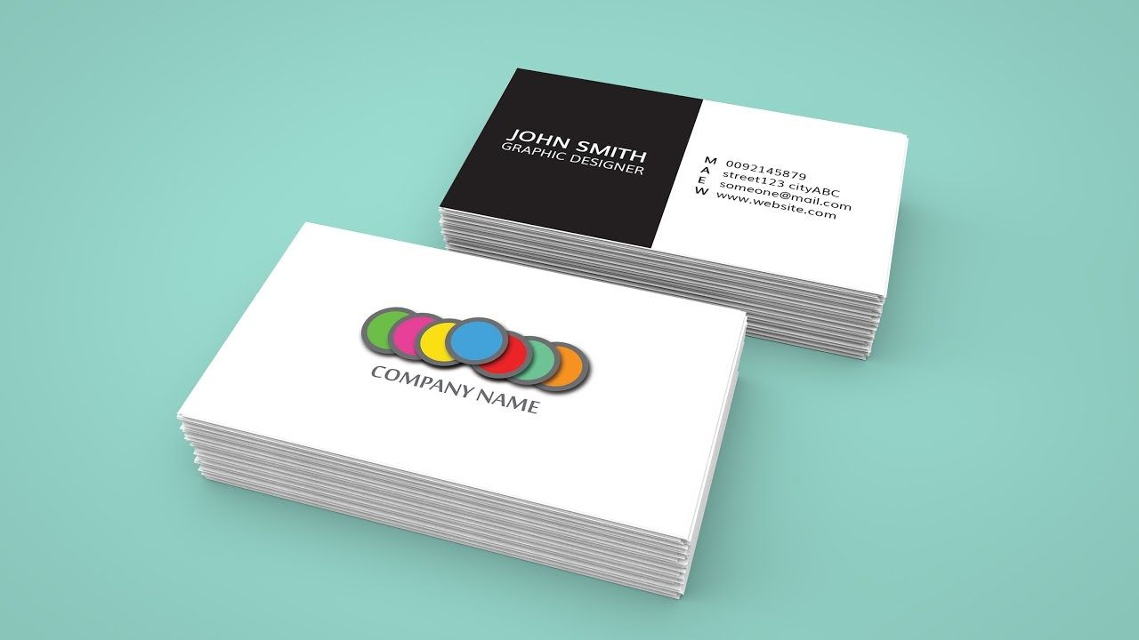How To Create A Business Card In Adobe Indesign And 3d Mockup In Photoshop Create Business Cards Business Card Fonts Professional Business Card Design