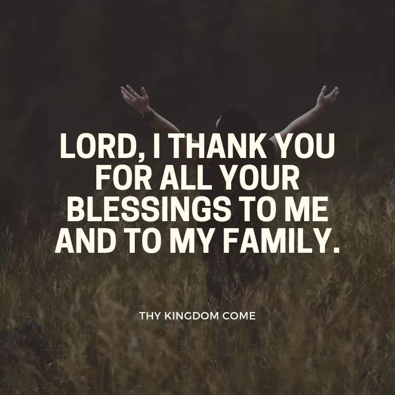 Blessing Thank You God Quotes