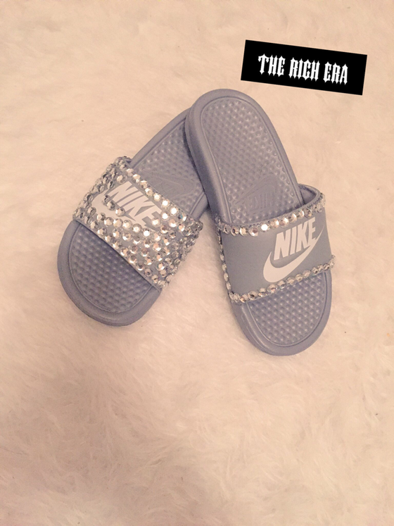 d3b0ed81d8d13a Image of Blinged out Nike slides Bling Sandals