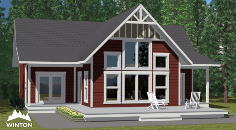 Pin By Sarah Bartlett On House Ideas Cottage Plan Cabins And Cottages Prefab Homes
