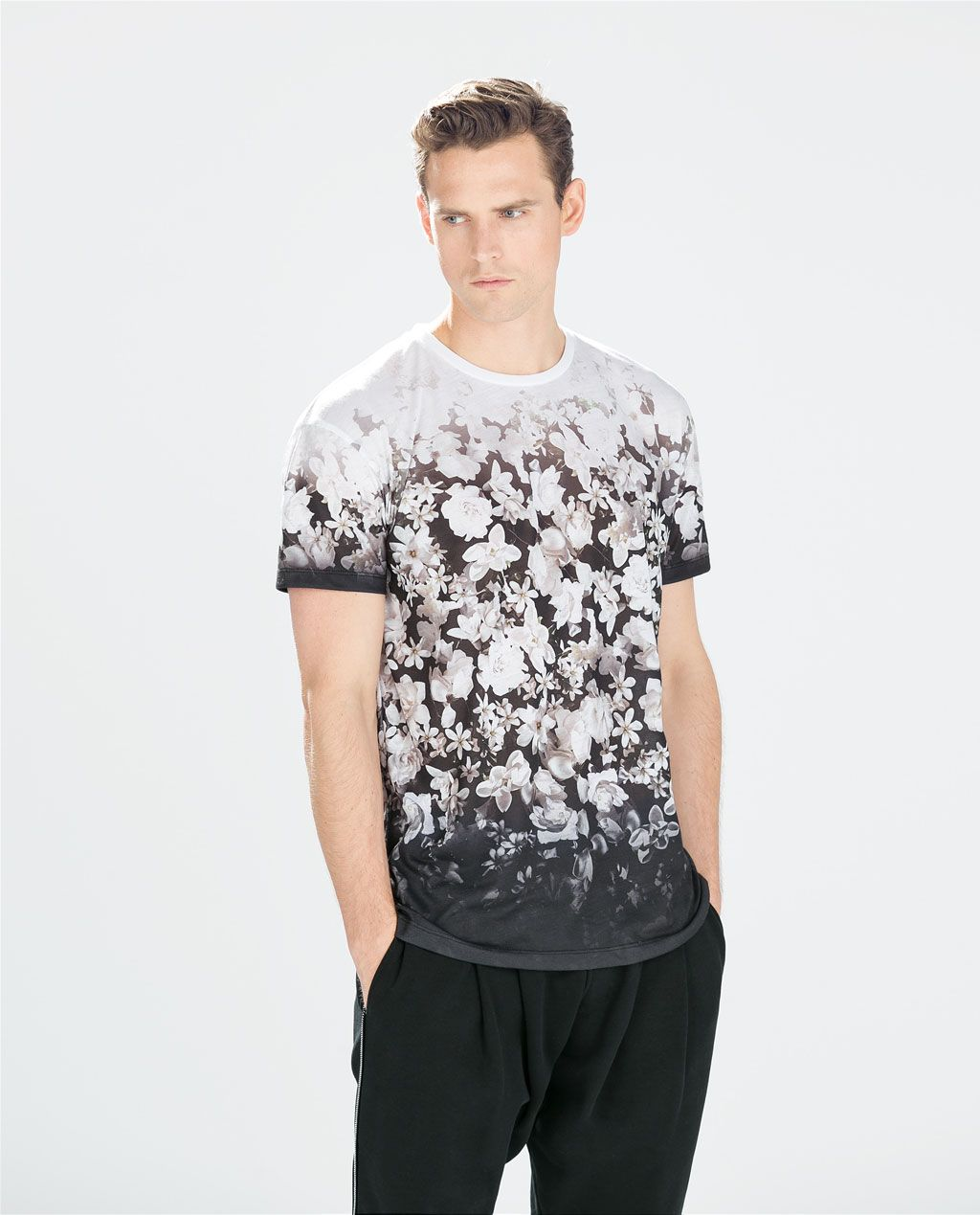 Zara - flower print t-shirt