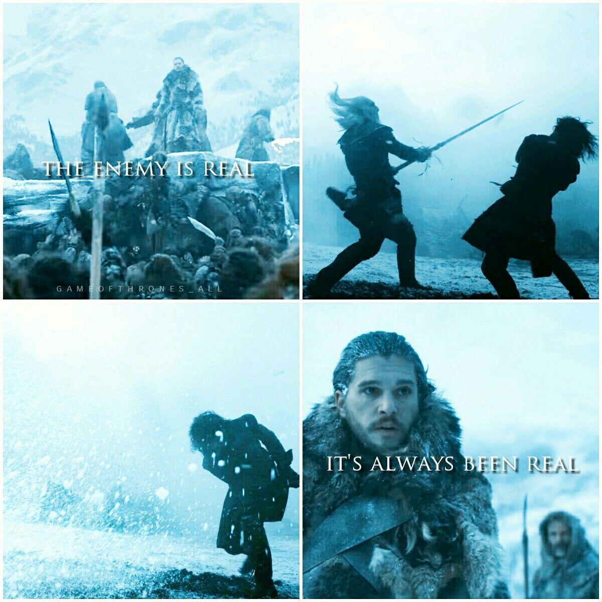 Game Of Thrones Season 7 And Season 5 Parallel Jon Snow White Walkers Valerian Steel Longclow Ice Oathke Hbo Game Of Thrones Game Of Thrones 3 Kings Game