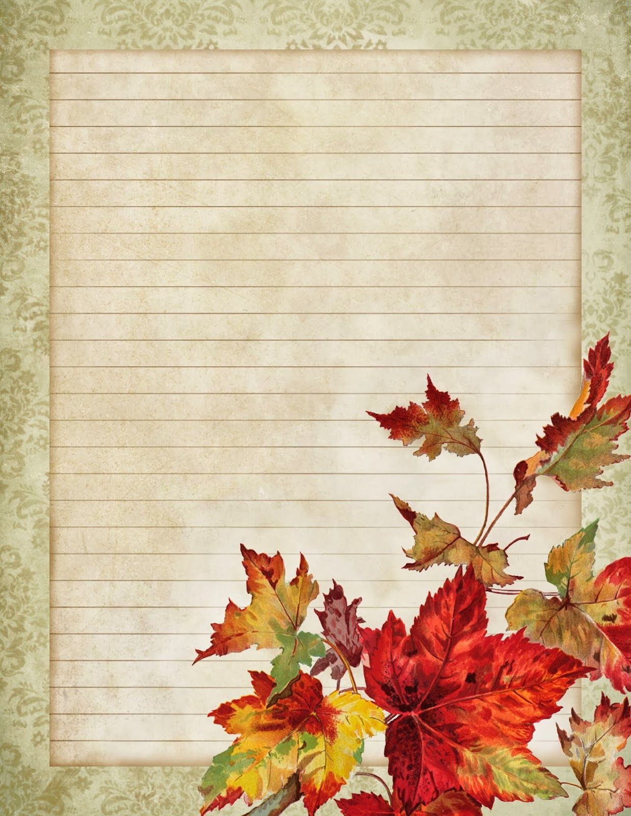 Digitally distressed or antiqued sheet of lined paper free – Free Printable Lined Stationary