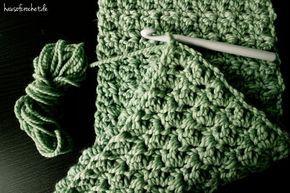 Tutorial: Einfachen Infinity Schal häkeln #ponchos