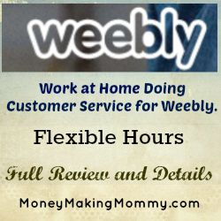 customer service work at home jobs available at weebly job offer
