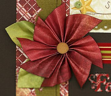 Flower to make for crafts or cards cards scrapbook ideas fancy this paper poinsettia accent mightylinksfo