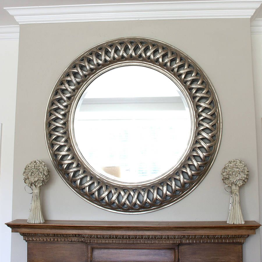 Grand Champagne Silver Weave Round Mirror | Mirror Mirror on the ...