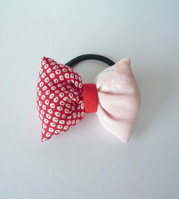 Kawaii Japanese Gift Idea Pink Hair Accessory Red Hair Tie ... 7f02107a42d