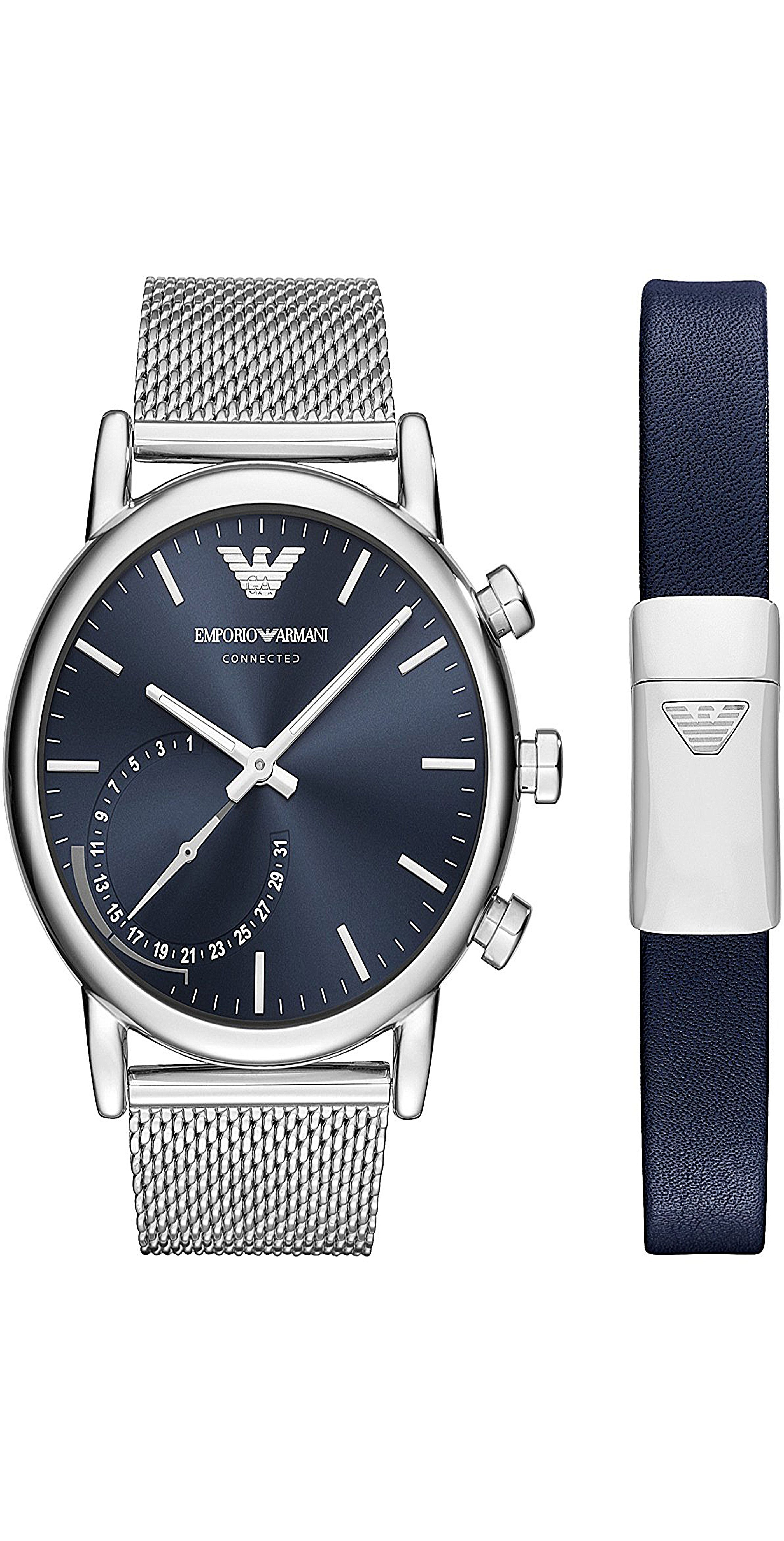 Armani Two Tone Stainless Steel Smartwatch, 46mm | Emporio