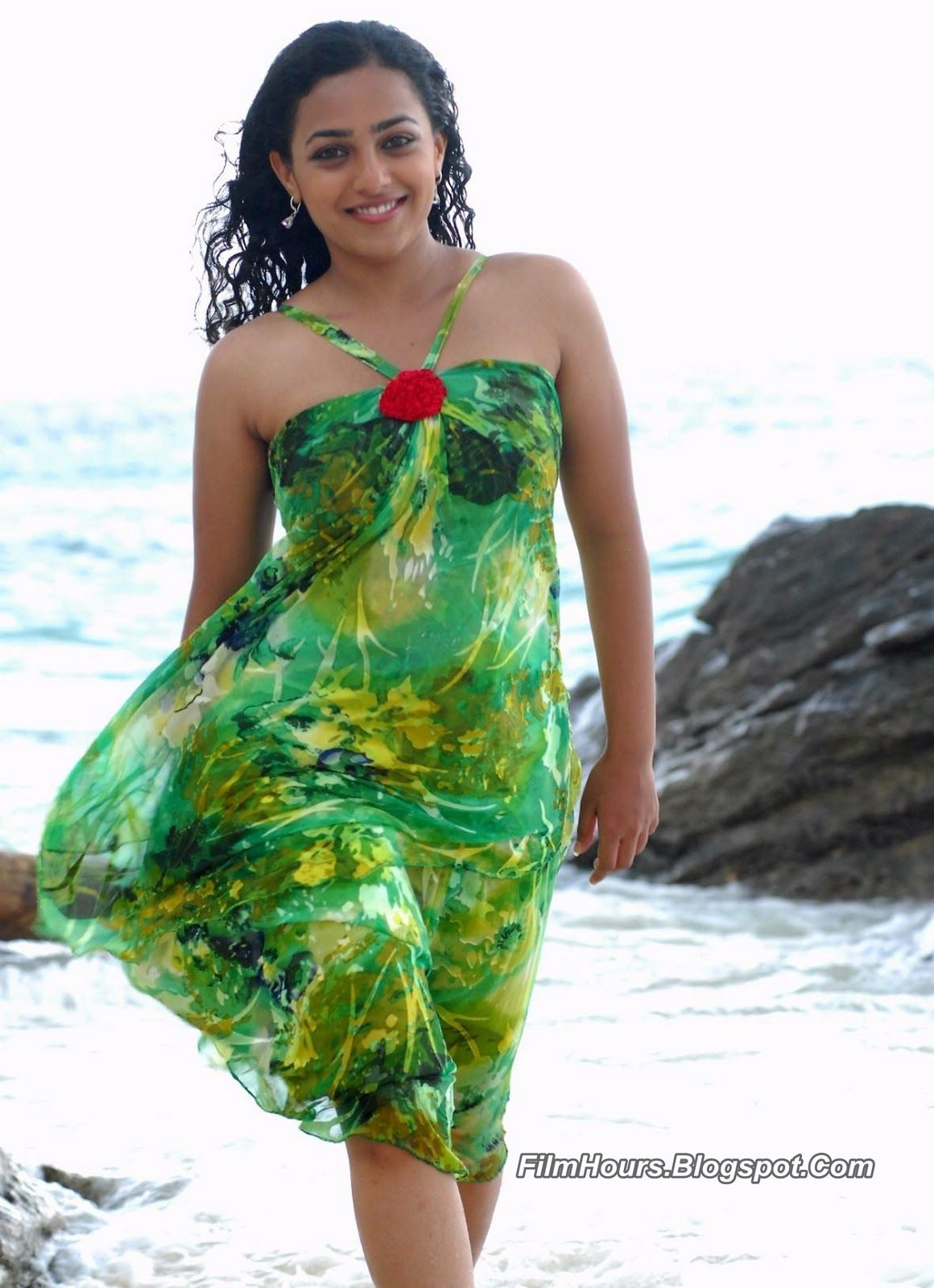 nithya menon hot stills spicy photos actress glamour navel pictures