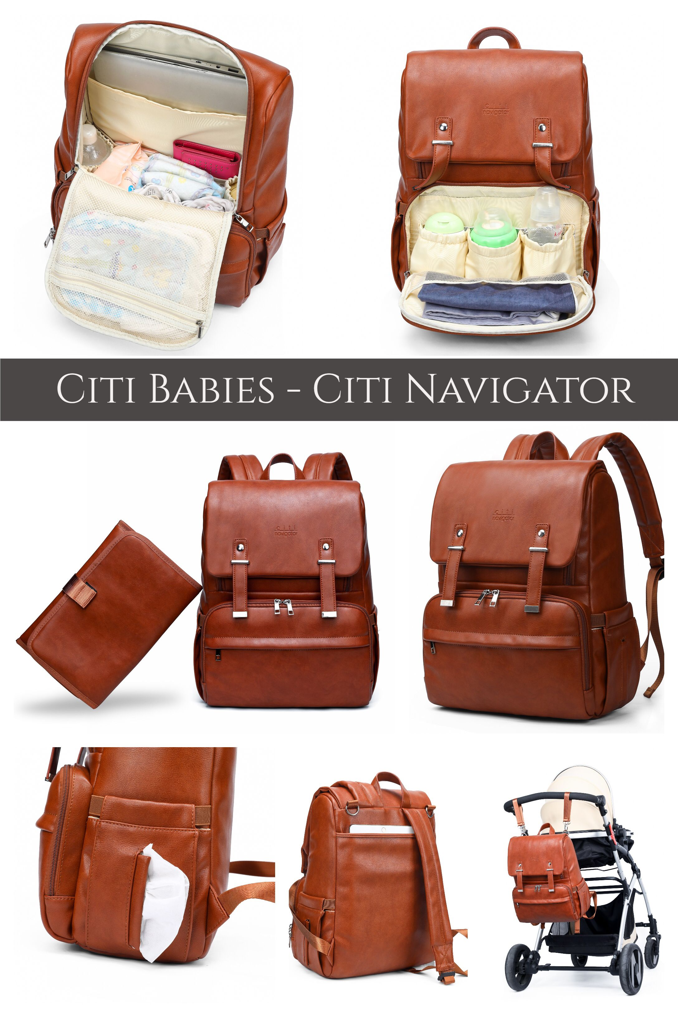35b65bc55 The Citi Navigator is a designer diaper bag backpack with an ...