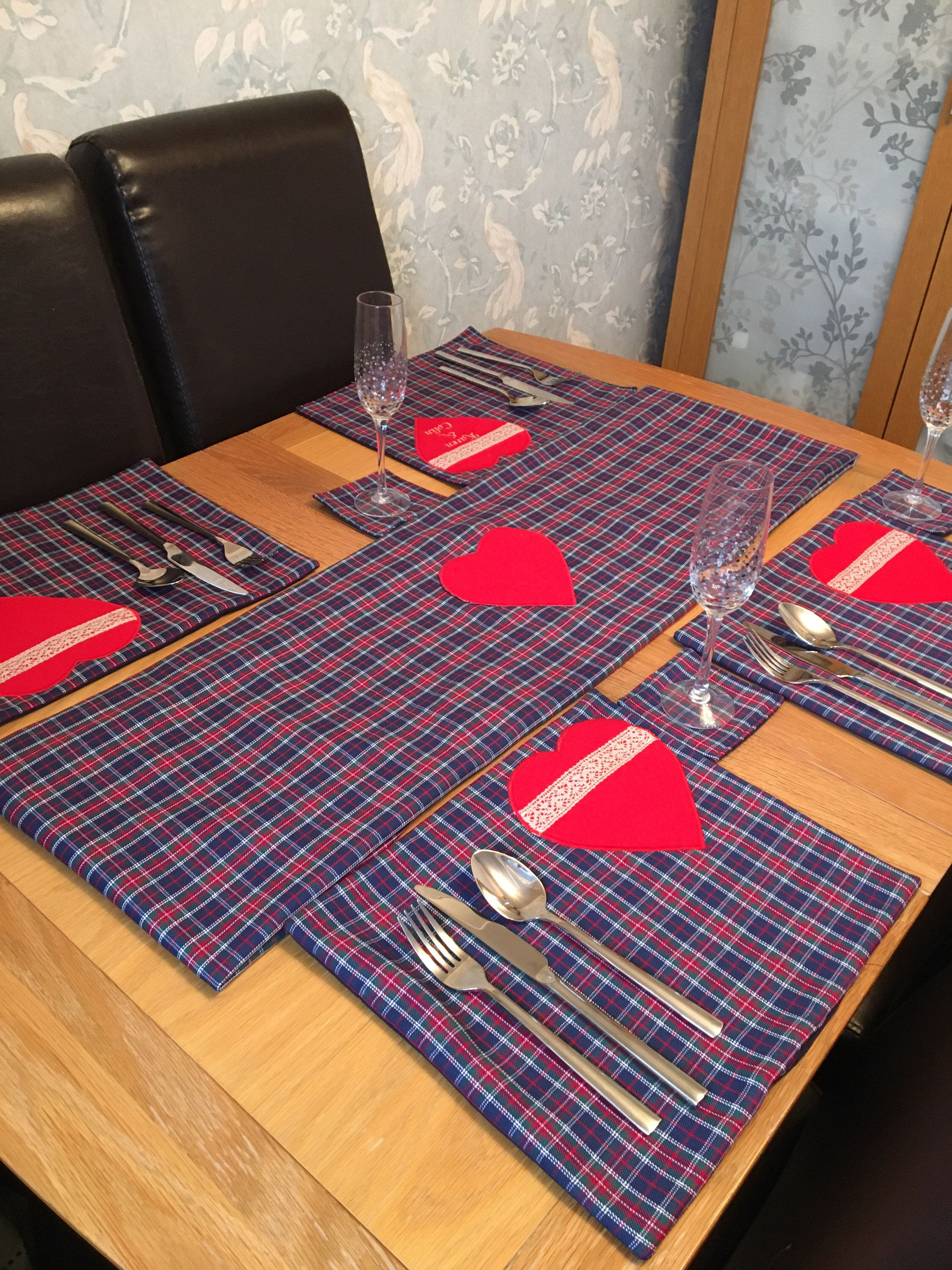 Placemats Coasters Table Runner Etsy Placemats Table Runner Size Table Runners
